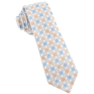 plaid bliss light champagne ties