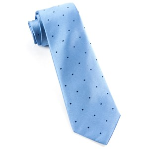 satin dot light blue ties
