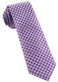 Ties - White Wash Houndstooth - Lavender