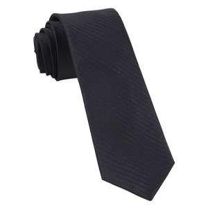 sound wave herringbone black ties