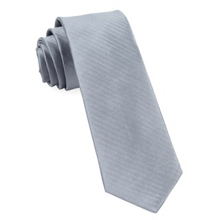 sound wave herringbone silver ties