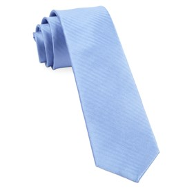 Sound Wave Herringbone Light Blue Ties