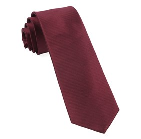 Sound Wave Herringbone Burgundy Ties