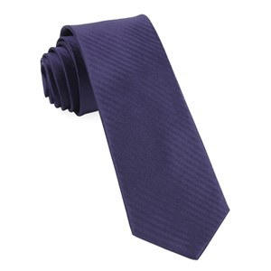 sound wave herringbone eggplant ties