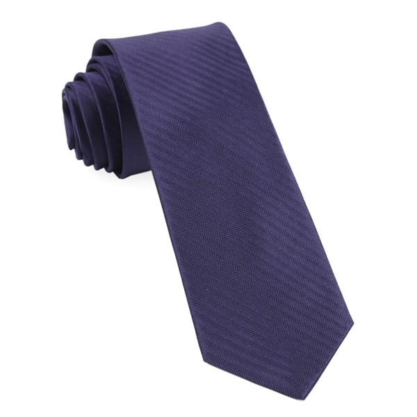 Eggplant Sound Wave Herringbone Tie