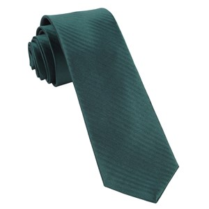 sound wave herringbone hunter green ties