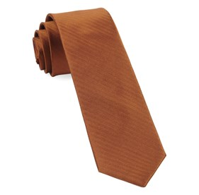 Sound Wave Herringbone Burnt Orange Ties