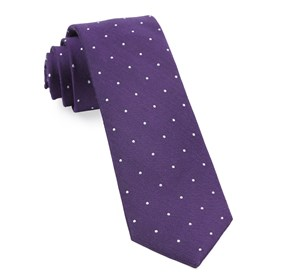 Plum Dotted Report ties