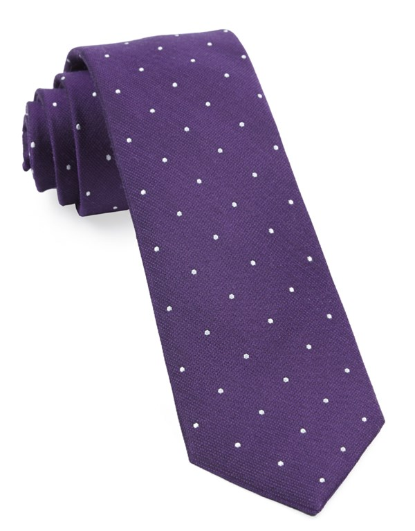 Dotted Report Plum Tie