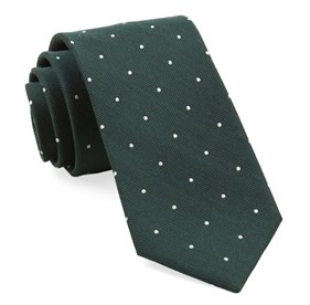 Hunter Green Dotted Report ties