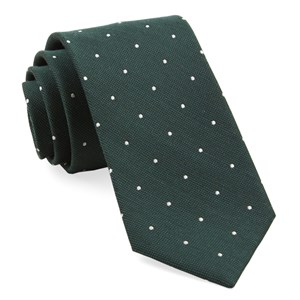 dotted report hunter green ties