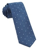 Ties - Dotted Report - Serene Blue
