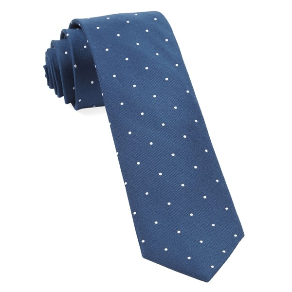 Serene Blue Dotted Report Tie