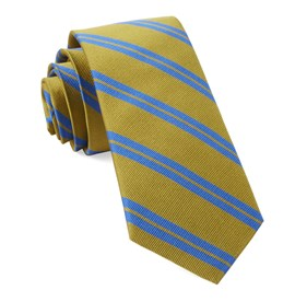 Mustard Center Field Stripe ties