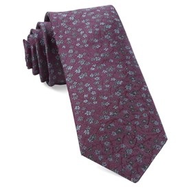 Free Fall Floral Mauve Ties