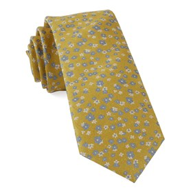Free Fall Floral Yellow Gold Ties