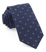 "Budding Paisley - Navy - 2.5"" x 58"" - Ties"