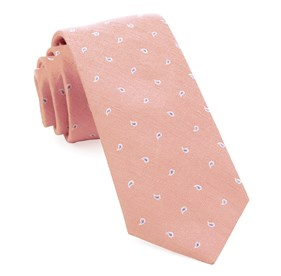 Pink Budding Paisley ties