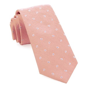 budding paisley pink ties
