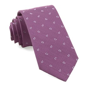 Wisteria Budding Paisley ties