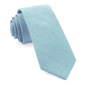 Light Blue Budding Paisley ties