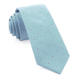 budding paisley light blue ties