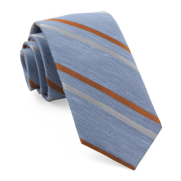Light Blue Pep Stripe Tie