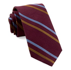 Burgundy PEP STRIPE ties