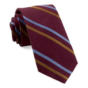 pep stripe burgundy ties