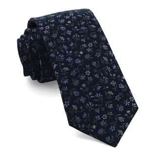 floral acres navy ties