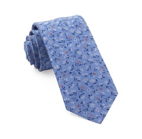 Light Blue Floral Acres ties