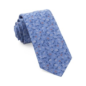 floral acres light blue ties