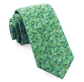 Mint Floral Acres ties