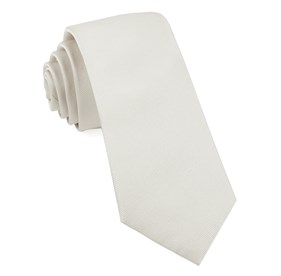 White Grosgrain Solid boys ties