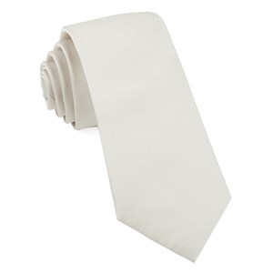 grosgrain solid white ties
