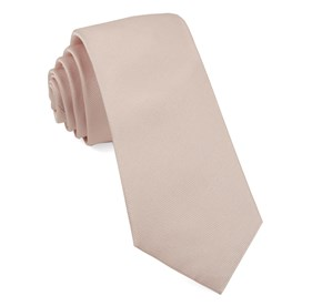 Blush Pink Grosgrain Solid boys ties