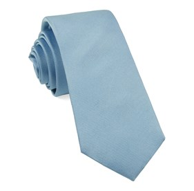Grosgrain Solid Steel Blue Ties