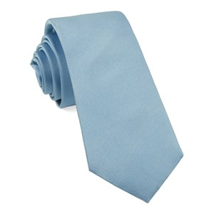grosgrain solid steel blue boys ties