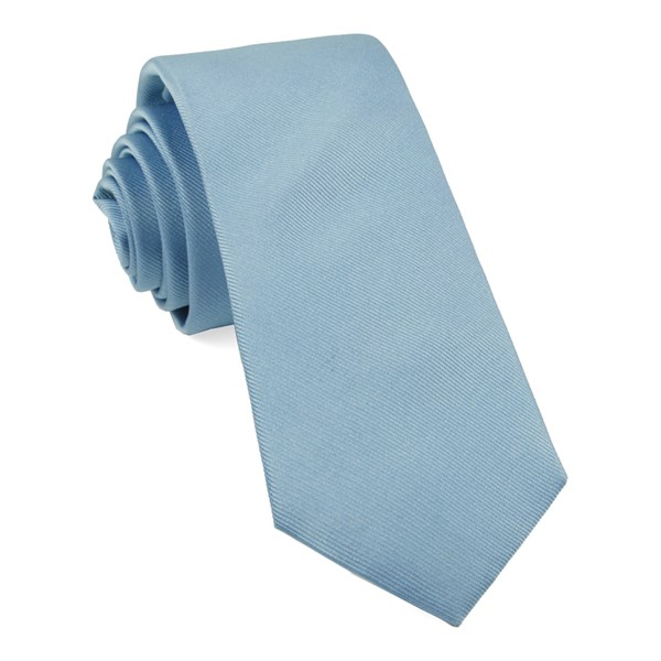 Steel Blue Grosgrain Solid Tie