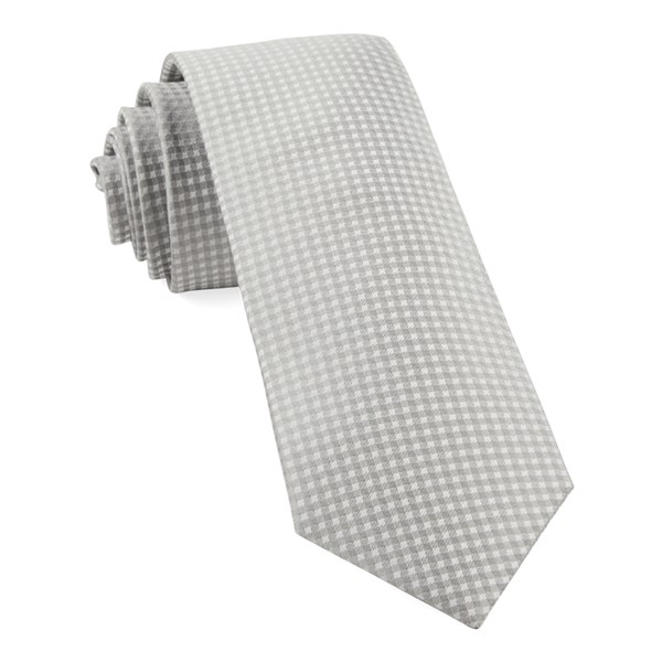 Silver Be Married Checks Tie