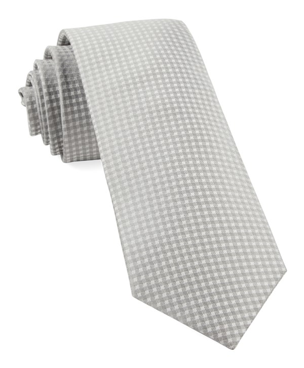Be Married Checks Silver Tie