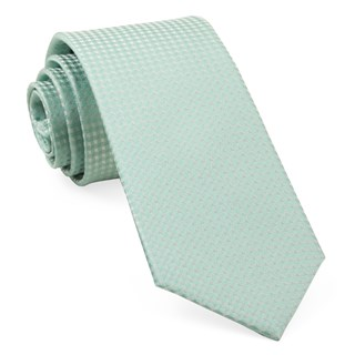 Be Married Checks Spearmint Tie