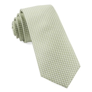 be married checks sage green ties