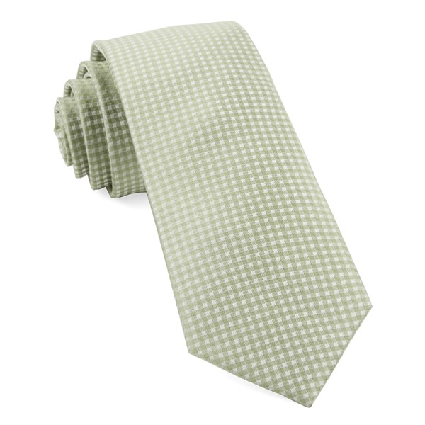 Sage Green Be Married Checks Tie