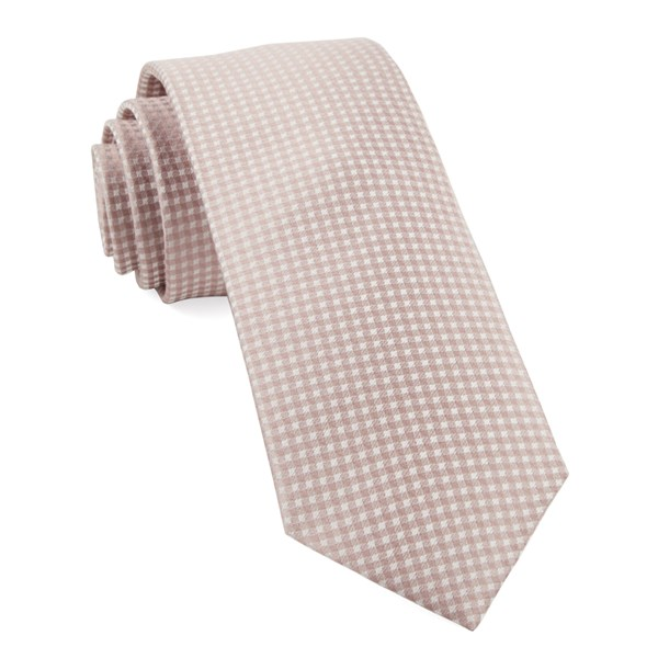 Soft Pink Be Married Checks Tie