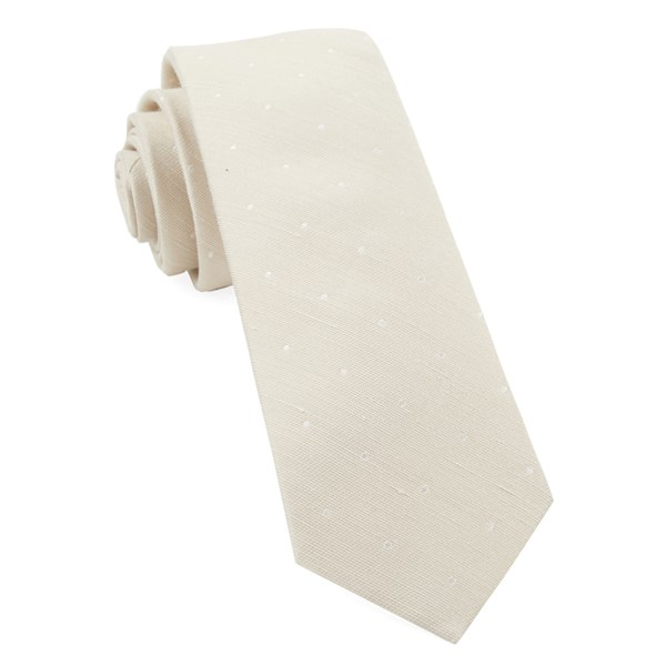 Light Champagne Bulletin Dot Tie