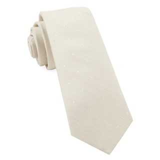 Bulletin Dot Light Champagne Tie