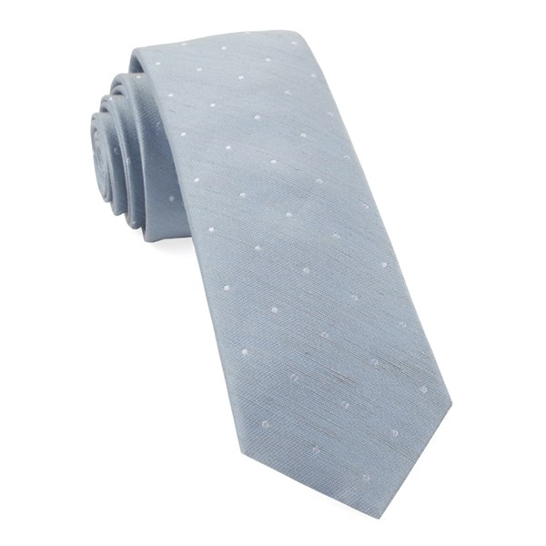Slate Blue Bulletin Dot Tie