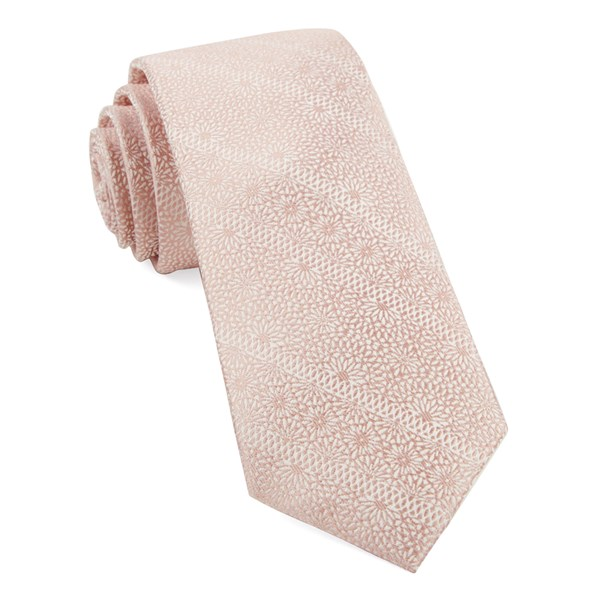 Soft Pink Wedded Lace Tie