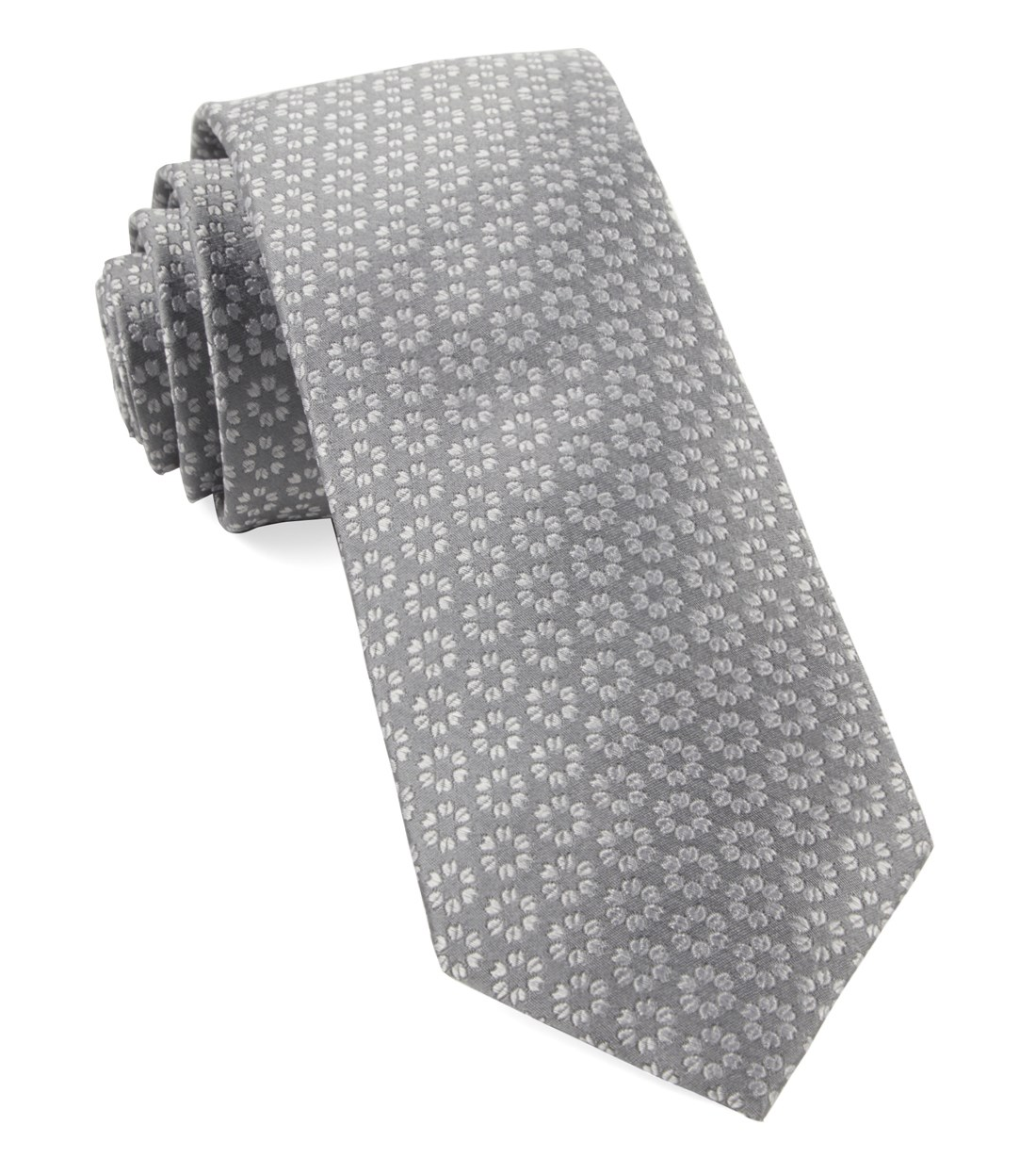 "First Look Floral - Grey - 3"" x 58"" - Ties"